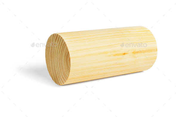 Wooden Cylindrical Block - Stock Photo - Images