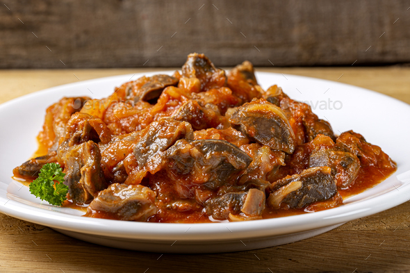 Gizzard stew - Stock Photo - Images