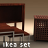Ikea set - 3 pieces - 3DOcean Item for Sale