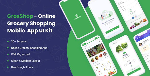 Grosshop - Grocery Shopping  App UI kit