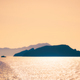 Cyclades islands silhouettes in Aegean sea - PhotoDune Item for Sale