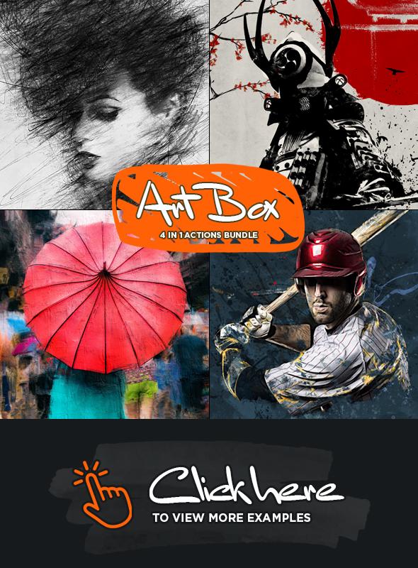 Art Box 4 in 1 Photoshop Actions Bundle