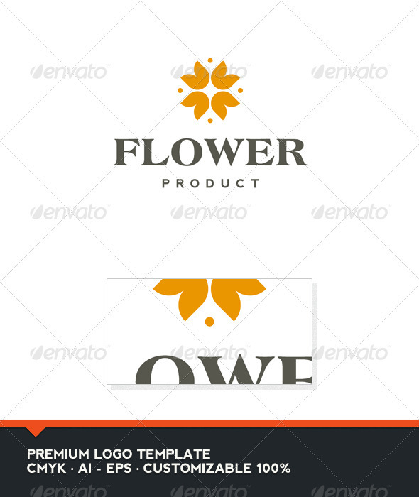 Flower Product Logo Template - Nature Logo Templates