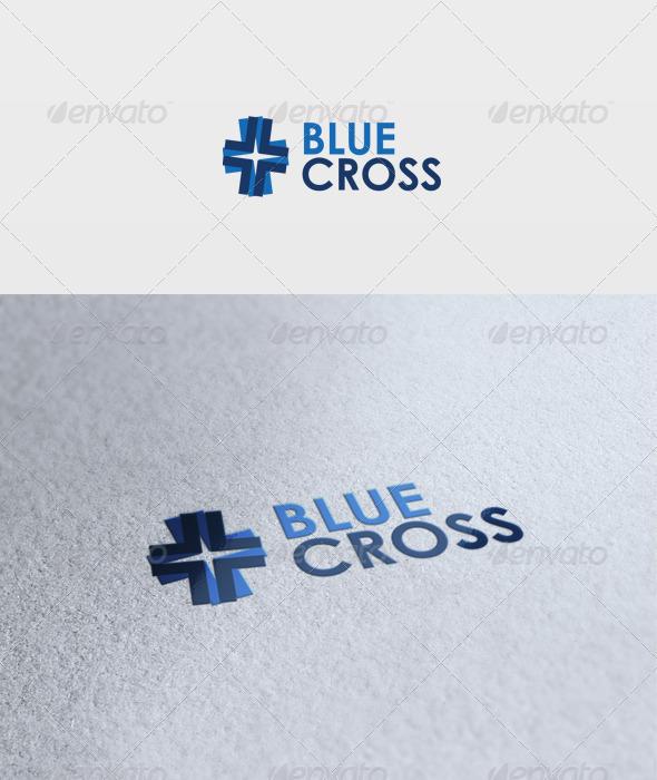 Blue Cross Logo - Vector Abstract