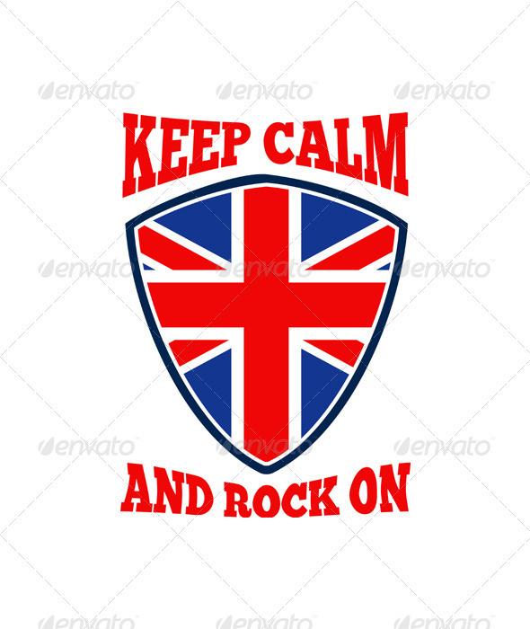 Keep Calm Rock On British Flag - Decorative Vectors