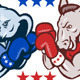 Democrat Donkey Republican Elephant Mascot Electio - GraphicRiver Item for Sale