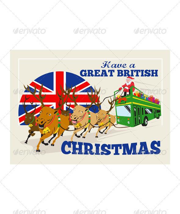 Great British Christmas Santa Reindeer Double Deck - Christmas Seasons/Holidays
