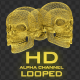 Gold Skull Structures - VideoHive Item for Sale