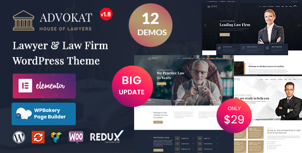 Advokat - Lawyer & Law Firm WordPress Theme