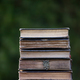 Collection of old books on dark background - PhotoDune Item for Sale