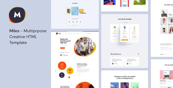 Miles – Multipurpose Creative HTML Template