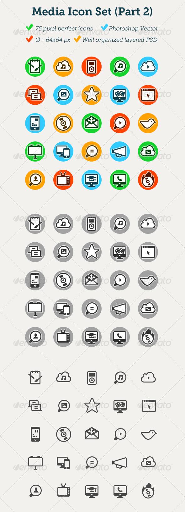 Media Icon Set (part 2) - Media Icons