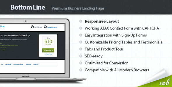 Bottom Line – Premium Business Landing Page