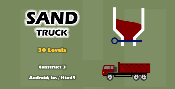 Sand Truck - HTML5 Game (Construct 3)
