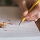 Pencil On Paper Writing Medium Length