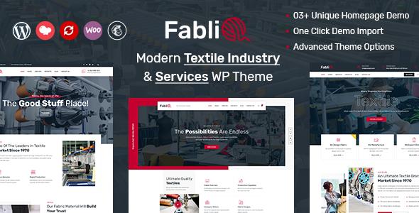 Fablio - Textile Industry WordPress Theme