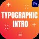 Typographic Intro - VideoHive Item for Sale