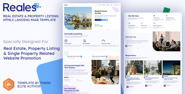 Reales - Real Estate & Property Listing HTML Landing Page Template