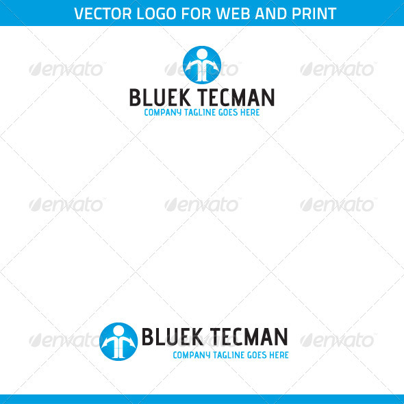 Bluek Tecman Logo Template. - Symbols Logo Templates