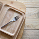 Wooden tray and fork - PhotoDune Item for Sale
