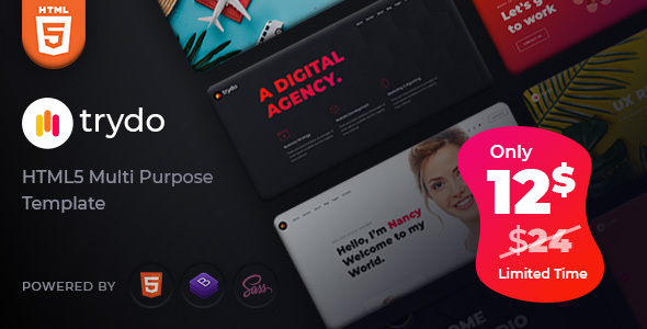 Trydo - Creative Agency and Portfolio Bootstrap Template