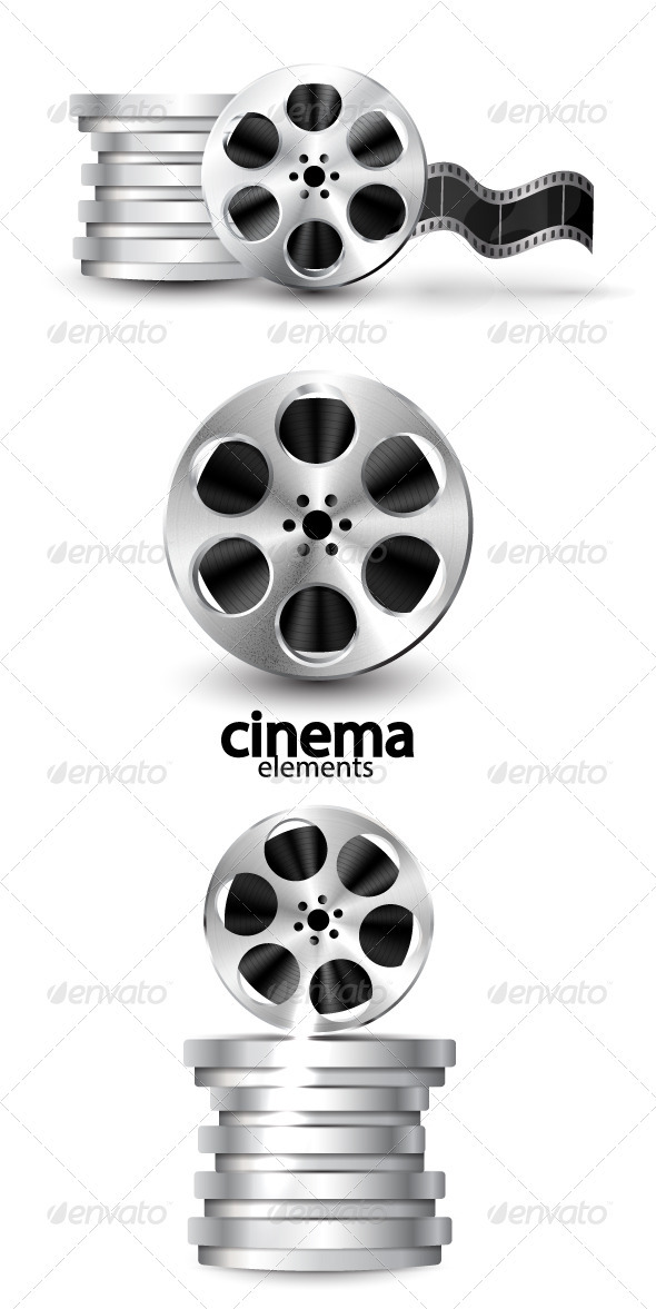Film Reel Cinema Vector Icons - Industries Business