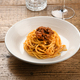 Serving of wild boar ragout on spaghetti Italian pasta - PhotoDune Item for Sale