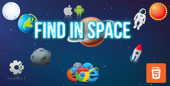 Find In Space - HTML5/Mobile Game - (.Capx)