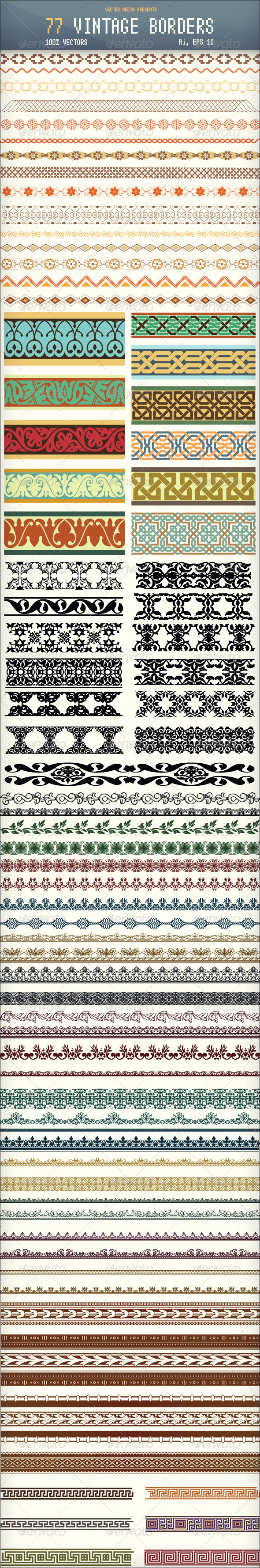 77 Vintage Borders - Borders Decorative