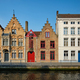 Brugge canal and old houses. Bruges, Belgium - PhotoDune Item for Sale