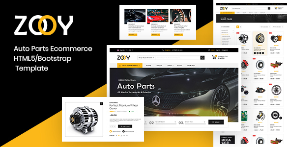 Extraordinary ZOOY - Auto Parts Store HTML Template