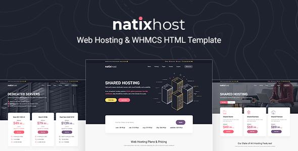 NatixHost - WHMCS & Hosting HTML Template