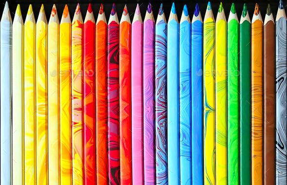 Set of color pencils - Stock Photo - Images