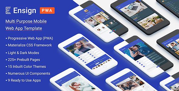 Incredible Ensign: Multi Purpose PWA Mobile App Template