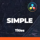 Clean and Simple Titles Package - DaVinci Resolve - VideoHive Item for Sale