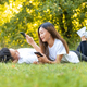 young asian couple relaxes in a garden - PhotoDune Item for Sale