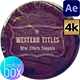 Western Titles - VideoHive Item for Sale