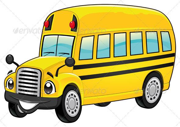 Funny school bus. - Travel Conceptual