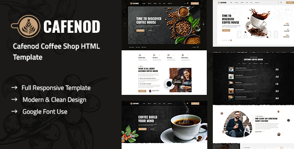 Cafenod – Coffee Shop HTML Template