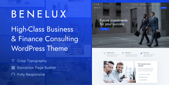 Benelux - Business & Finance Consulting WordPress Theme