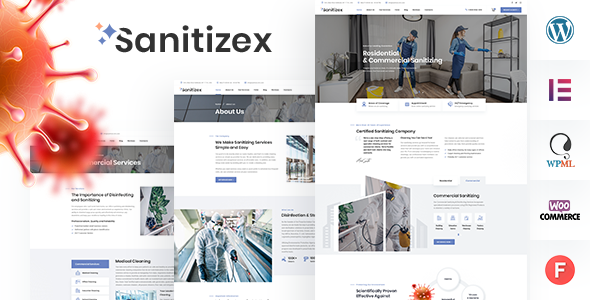 Incredible Sanitizex - Sanitizing and Cleaning Services WordPress Theme