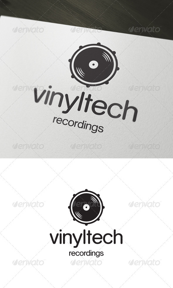 Vinyltech Recordings Logo - Objects Logo Templates