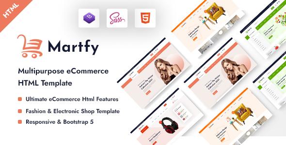 Martfy – Multipurpose eCommerce HTML Template