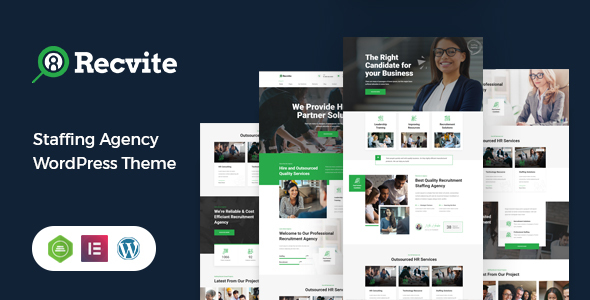 Recvite - Staffing Agency WordPress Theme