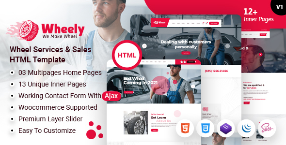 Wheely - Wheel Services & Repair HTML Template