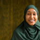 Portrait of beautiful black African Muslim woman smiling outdoors - PhotoDune Item for Sale