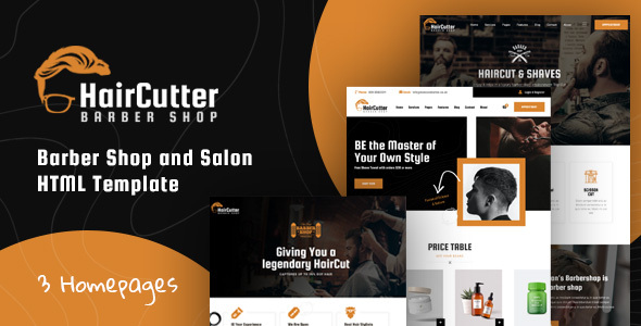 HairCutter - Barber, Beauty Shop and Salon Responsive HTML Template