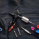 Tattoo machine, tools and supplies - PhotoDune Item for Sale