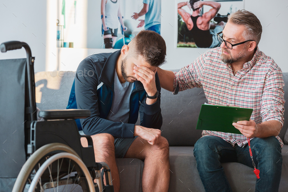 Cheering up young man - Stock Photo - Images