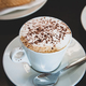 Hot mocha coffee with milk foam and cocoa powder. - PhotoDune Item for Sale